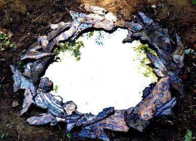 Cornice Specchio Blu